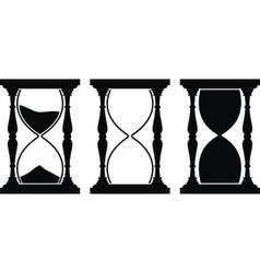 Set sand hourglass vector