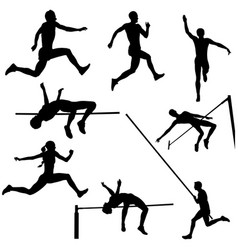set track and field vector image