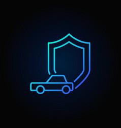Shield with car icon vector