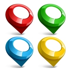 Shiny gloss Map pointer icon vector