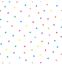 simple seamless pattern with colorful oval vector image