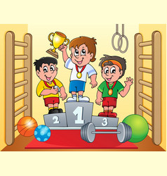 Sport and gym topic image 6 vector