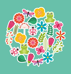 spring flowers natural season pattern vector image