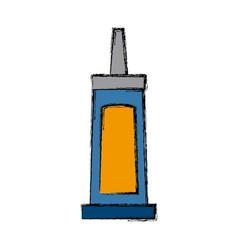 super glue bottle vector image