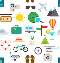 Travel pattern stickers vector