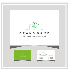 Tree house technology logo design and business vector