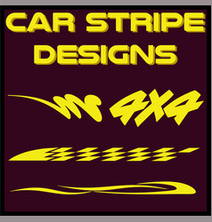 tribal and cool car stripe design set adhesive vector image