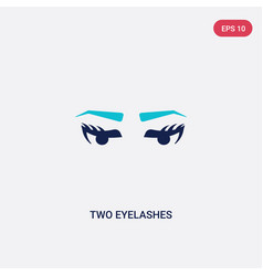 Two color two eyelashes icon from beauty concept vector