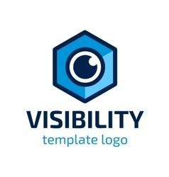 Visibility template logo vector image