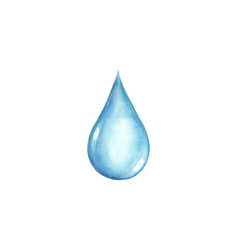 watercolor water drop isolated vector image