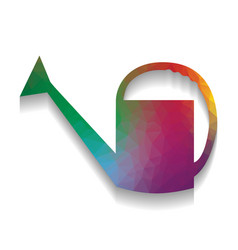watering sign colorful icon with bright vector image
