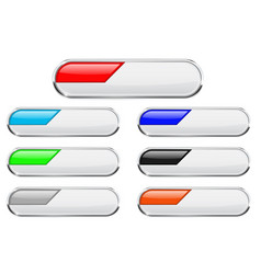white buttons with colored tags vector image