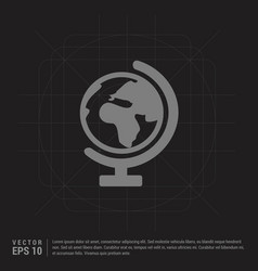 world globe icon - black creative background vector image