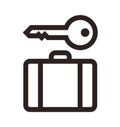 Baggage storage - travel icon vector image vector image
