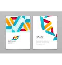 Brochure flyer design template with vector image vector image