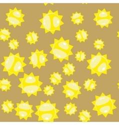Cartoon sun seamless pattern 628 vector image