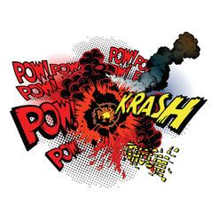 cartoon war explosions vector image vector image