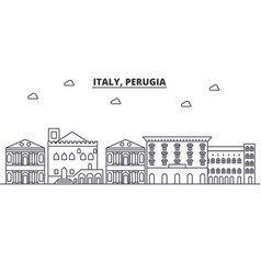italy perugia architecture line skyline vector image vector image