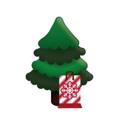 pine tree merry christmas design vector image vector image