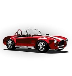 Red classic sport car cobra roadster vector