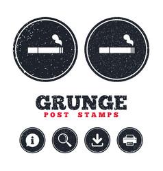smoking sign icon cigarette symbol vector image