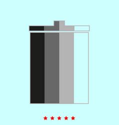 trash bucket it is icon vector image vector image