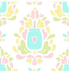 baroque smoothie jar ornament vector image
