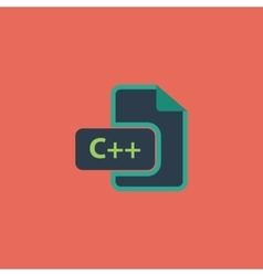 C development file format flat icon vector image