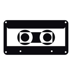 Cassette icon simple style vector image