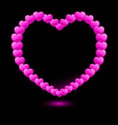 Hearts forming heart shape vector