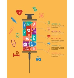 Medicine and healthcare infographic elements vector image vector image