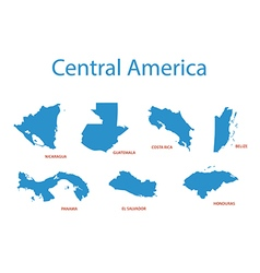 central america - maps of territories vector image