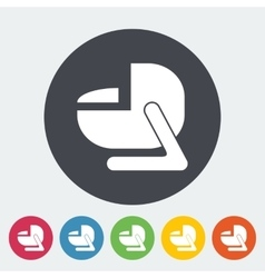 Child car seat flat icon vector image vector image