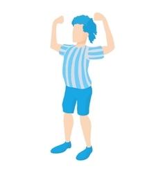 Football player icon cartoon style vector image