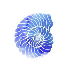 Graphic circle seashell vector image vector image