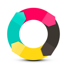 infinity spinning - paper arrows in circle vector image