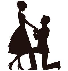marriage proposal vector image vector image