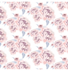 Roses flowers texture pattern vector image