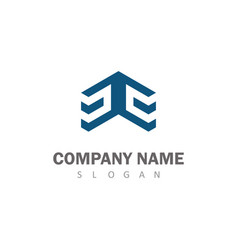 square 3d logo vector image vector image