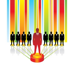 team business concept leaders vector image vector image