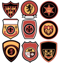 classic emblem badge design vector image vector image