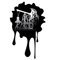 Grunge oil pump7 vector