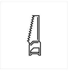 handsaw icon on white background vector image