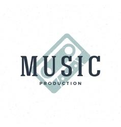 Music type logo hand drawn vintage design vector image vector image
