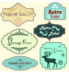 Retro frames set vector image vector image