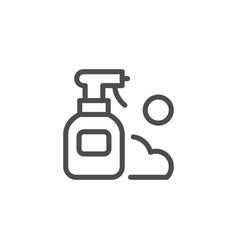 spray line icon vector image vector image