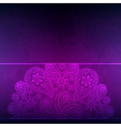 Template frame design for card with hand drawn vector image vector image