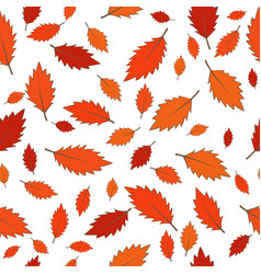 Abstract colorful fall leaves seamless pattern vector