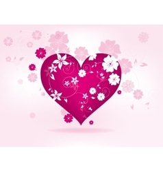 Abstract floral background for valentines day with vector image