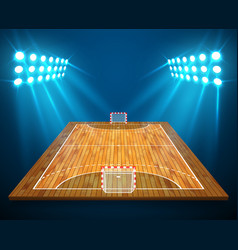 An of hardwood perspective handball field cort vector